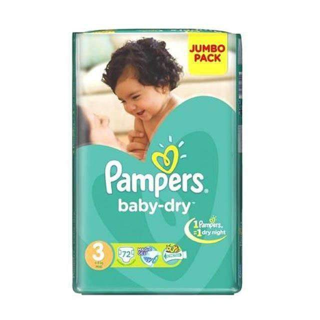 Freelance Distributors - Pampers Baby Pampers, Midi Size 3 Jumbo Pack