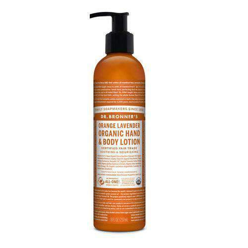Dr Bronner's, Org. Orange Lav. Body Lotion, 237ml