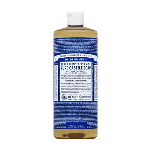 Health Solutions - Dr Bronner's Beauty & Personal Care Dr Bronner's, Org. Peppermint Soap, 118ml