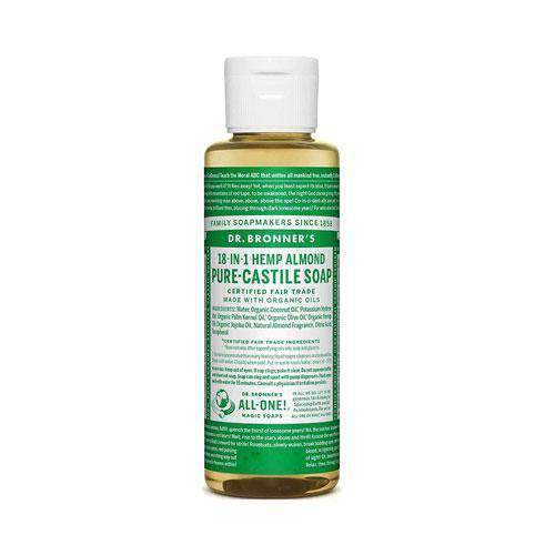 Health Solutions - Dr Bronner's Beauty & Personal Care Dr Bronner's, Organic Almond Liquid Soap, 118ml