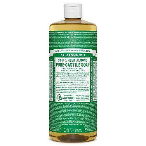 Health Solutions - Dr Bronner's Beauty & Personal Care Dr Bronner's, Organic Almond Liquid Soap, 946 ml