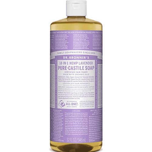 Health Solutions - Dr Bronner's Beauty & Personal Care Dr Bronner's, Organic Lavender Liquid Soap, 946ml