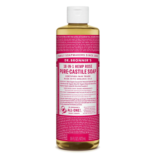 Health Solutions - Dr Bronner's Beauty & Personal Care Dr Bronner's, Organic  Rose Liquid Soap, 473ml