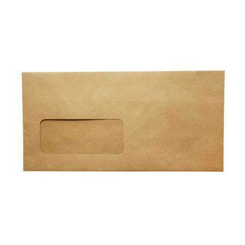 Brown Small Peel and Seal Envelope, DL, pack of 50