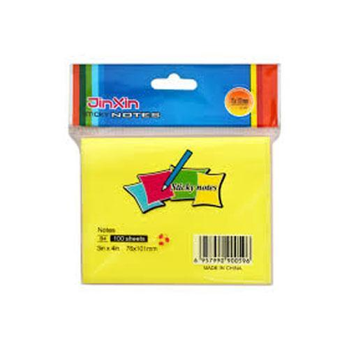 JinXin, Yellow Sticky Notes, 100 Sheets