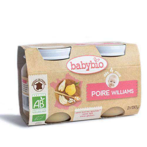 IPBD - Babybio Baby Babybio, Pear Fruit Pots, 2 x 100g, 4+ months