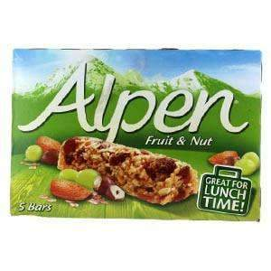 LIM How Brothers - Alpen Pantry Alpen, Fruit & Nut, 5 30g Bars