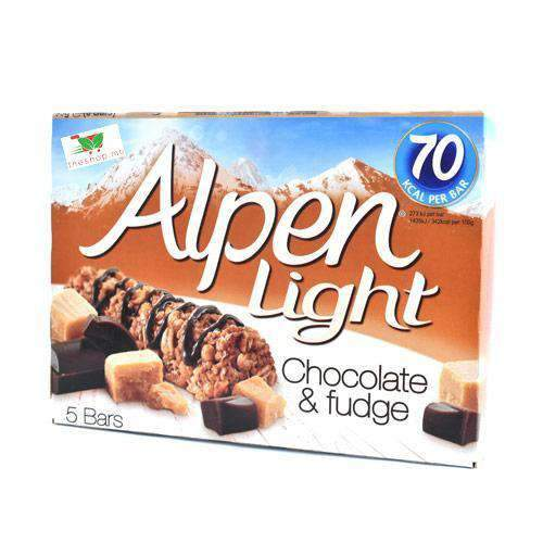 Alpen Light, Chocolate & Fudge, 5 30g Bars