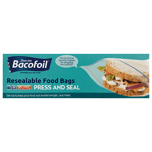 LIM How Brothers - Bacafoil Home & Garden Bacofoil, Resealable Bags, 260m x 280mm, 20 pcs