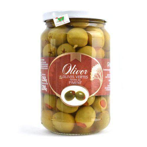 Moroil - Olivor Pantry Olivor, Green Olives stuffed with chilli, 350g