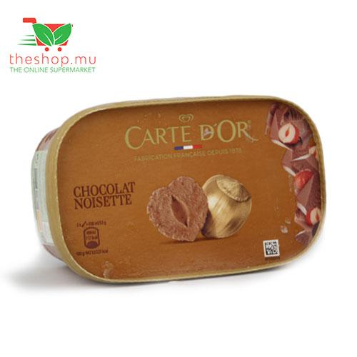 Panagora Marketing Co Ltd Frozen Carte D'Or, Ice cream, Chocolate and hazelnut, 1L