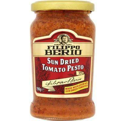 Scott & CO - Filippo Berio Pantry Filippo Berio, Sun Dried Tomato Pesto Sauce 190g