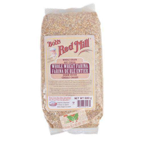 Shibani Trading - Bob's Red Mill Pantry Bob's Red Mill, Cereal farina whole wheat 680g