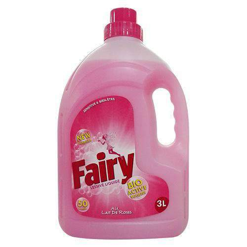 Soap and Allied - Fairy Household Supplies Fairy, Liquid Machine Sensitive Lait De Rose 3L