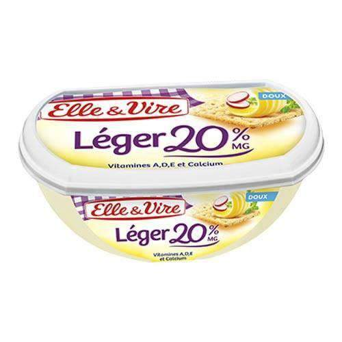 Elle & Vire Doux Leger 20% MG (Unsalted ) 250g