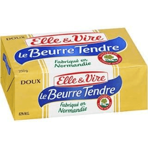 Tea Blenders - Elle & Vire Fresh Products Elle & Vire Le Beurre Tendre Doux/Unsalted,  250g