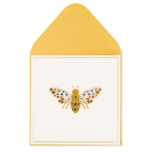Dazzling Golden Bee Blank Card