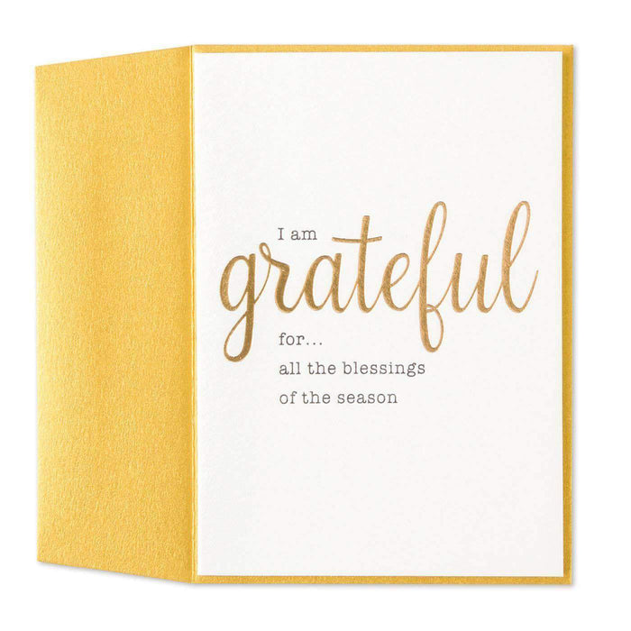 Unknown - Generic Product Flowers & Gifts Grateful Blessings Season Friendship Card