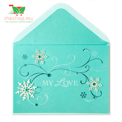 Unknown - Generic Product Flowers & Gifts Swirls & Snowflakes Christmas Card