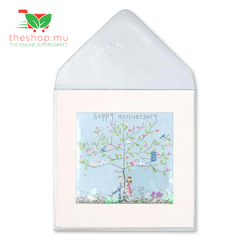 Unknown - Generic Product Flowers & Gifts Tree With Birds Shakie Anniversary Card