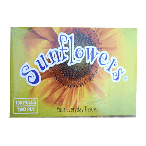 Yiptong & Sons - Sunflowers Household Supplies Sunflowers, Facial Tissue box, x 100s