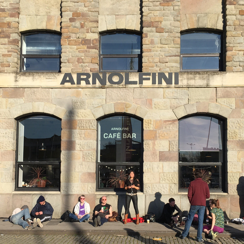 Outside the Arnolfini Gallery in Bristol