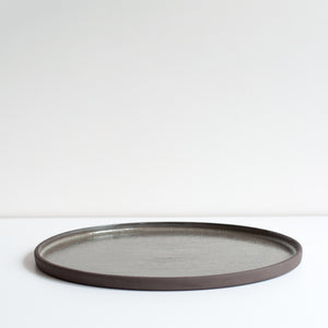 Sgraffito Strata Serving Plate, Plate - DOR & TAN | Contemporary Handmade Tableware