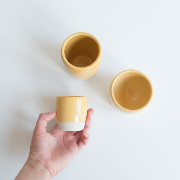 Espresso Cups - Gorse Yellow, Espresso Cups - DOR & TAN | Contemporary Handmade Tableware