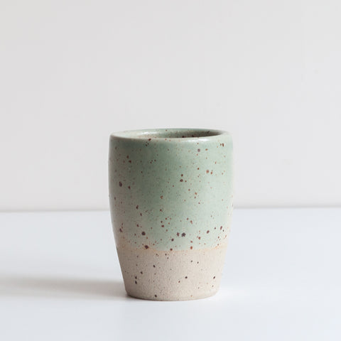 Tumbler - Celadon & Speckle, Tumbler - DOR & TAN | Contemporary Handmade Tableware