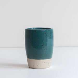 Tumbler - Marran Green & Speckle, Tumbler - DOR & TAN | Contemporary Handmade Tableware