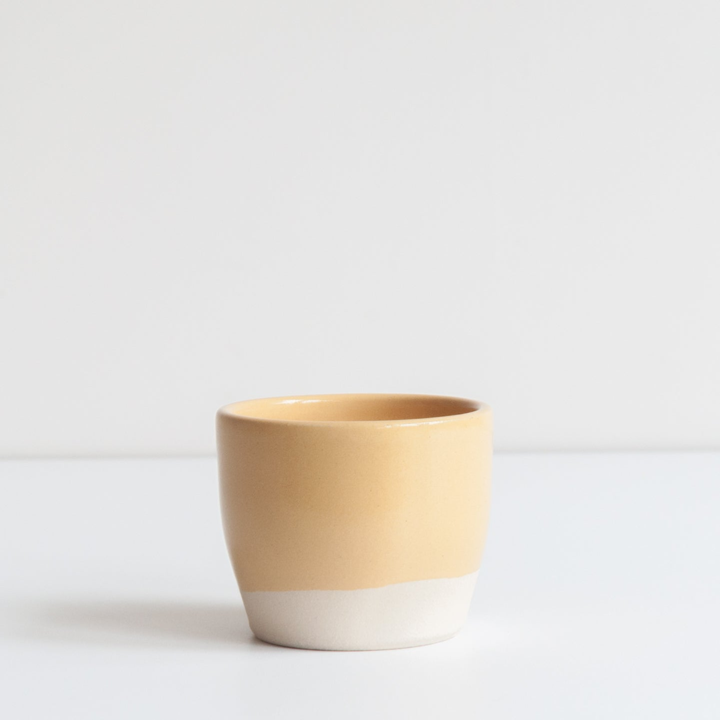 Tea Bowl - Gorse Yellow, Stoneware - DOR & TAN | Contemporary Handmade Tableware
