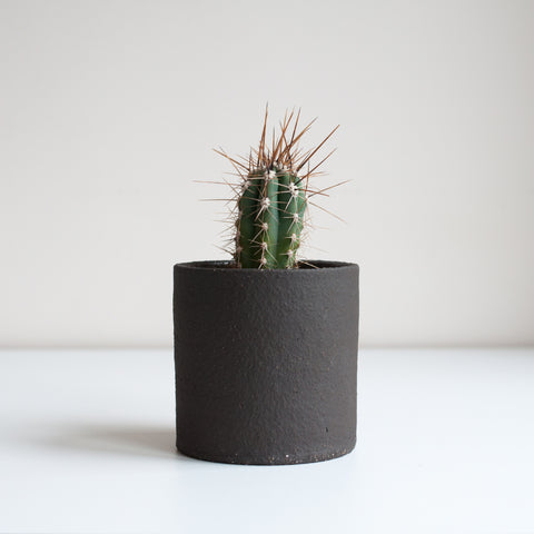 Small Planter - Coal, Planter - DOR & TAN | Contemporary Handmade Tableware