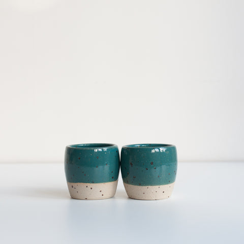 Espresso Cups - Marran Green & Speckle, Espresso Cups - DOR & TAN | Contemporary Handmade Tableware