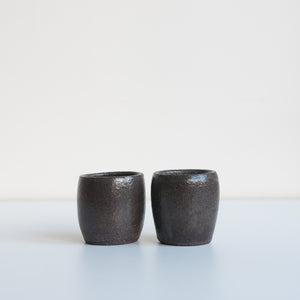 Espresso Cups - Charcoal, Espresso Cups - DOR & TAN | Contemporary Handmade Tableware