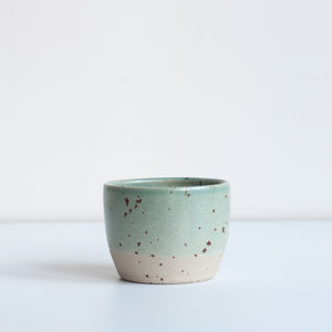Tea Bowl - Celadon & Speckle, Tea Bowl - DOR & TAN | Contemporary Handmade Tableware