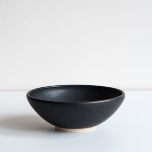 Black Footed Bowl, Bowl - DOR & TAN | Contemporary Handmade Tableware