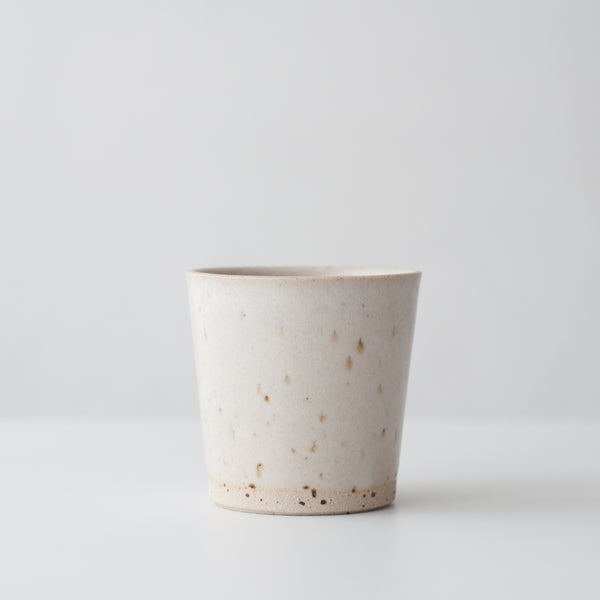 Beaker - Matte White & Speckled, Beaker - DOR & TAN | Contemporary Handmade Tableware