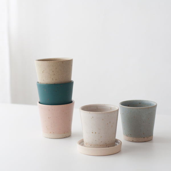 Beaker - Feldspar Pink & Speckled, Beaker - DOR & TAN | Contemporary Handmade Tableware