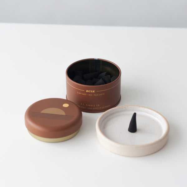 Dusk Sunset Incense Cones, Incense Sticks - DOR & TAN | Contemporary Handmade Tableware