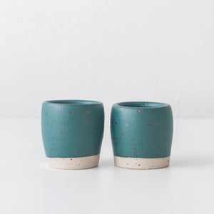 Espresso Cups - Nori Green & Speckle, Espresso Cups - DOR & TAN | Contemporary Handmade Tableware