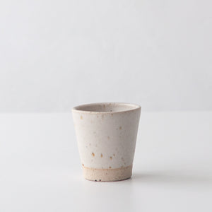 Espresso Beakers - Matte White & Speckled