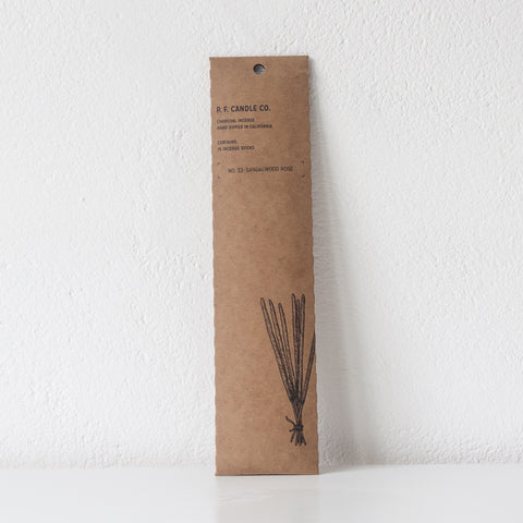 Sandalwood Rose Incense, Incense Sticks - DOR & TAN | Contemporary Handmade Tableware