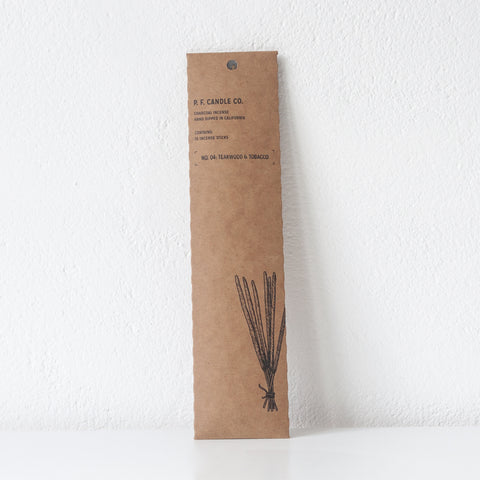 Teakwood and Tobacco Incense, Incense Sticks - DOR & TAN | Contemporary Handmade Tableware