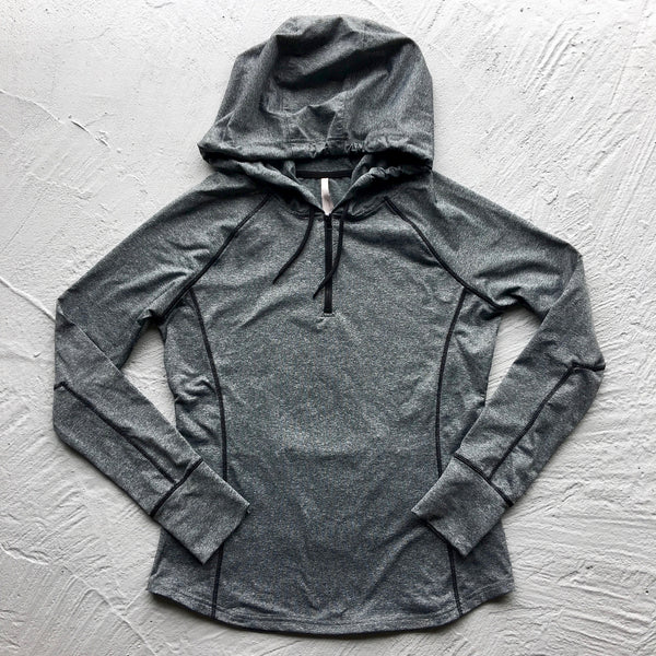 work it half zip hooded pullover