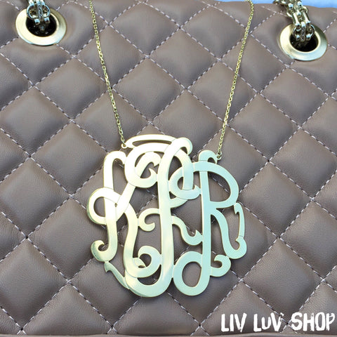 mckenna monogram necklace