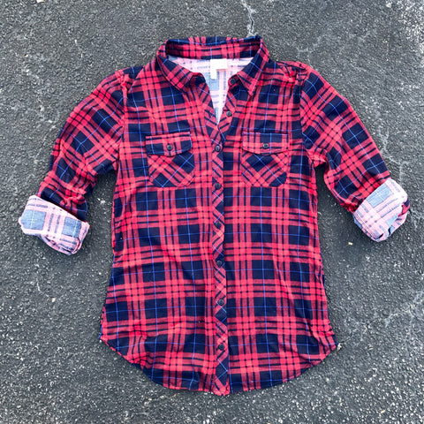 valentina plaid button down