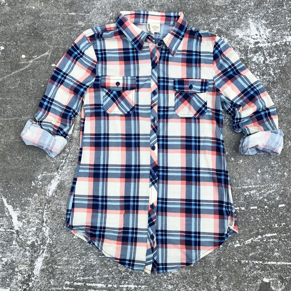 kristina plaid button down