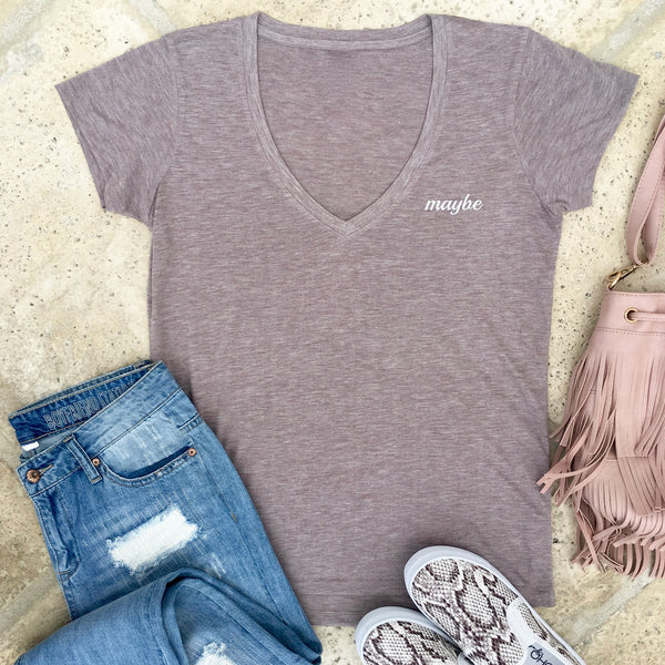 maybe v-neck tee