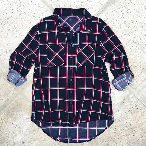 kate plaid button down