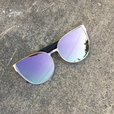 rose reflective sunnies